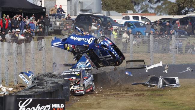 Todd Hazelwood was extremely lucky to walk away from the high-speed crash.