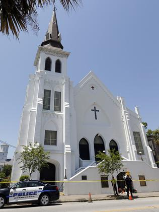 Emanuel AME Church in Charleston where the shooting took place. Picture: Stephen B. Morton/AP