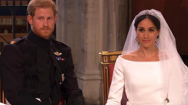 Reactions during Bishop Michael Curry's sermon at Prince Harry and Meghan Markle's wedding.