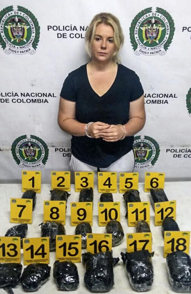 Cassie Sainsbury has struck a plea deal with Colombian prosecutors. Picture: AFP