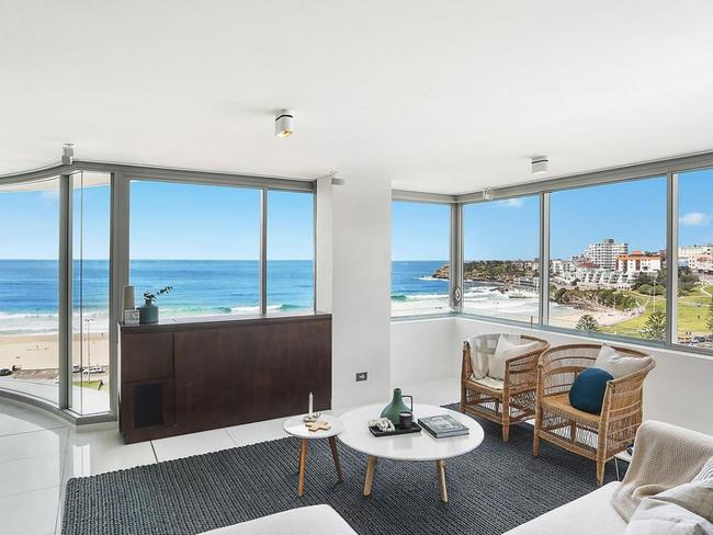 The Bondi Beach pad has spectacular views to the most famous beach in the world.