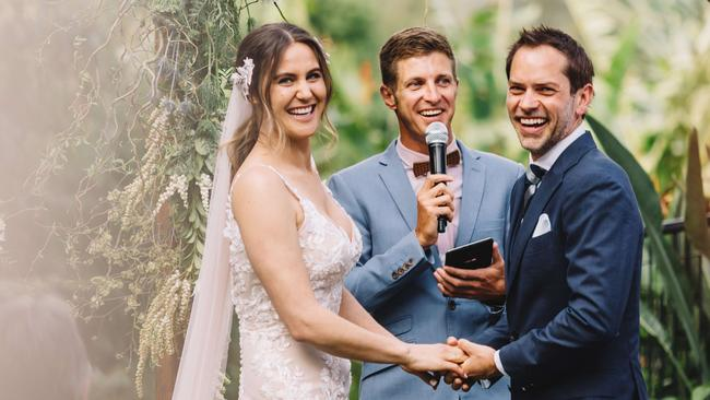 Casey Beros and her husband recently got married and they decided not to put 'till death do us part' in their vows.