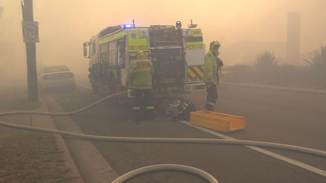 Firefighters at Milton. Picture: TNV