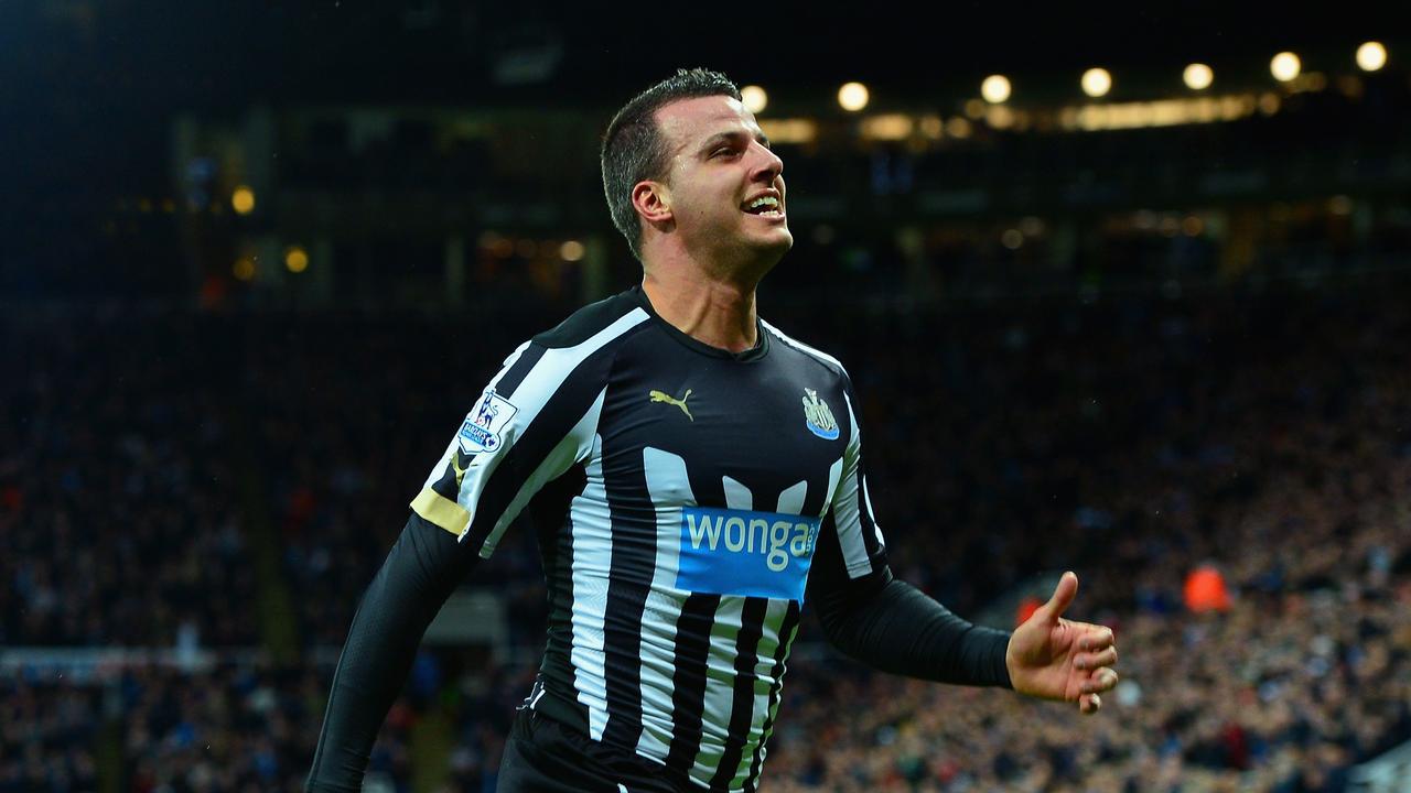 Steven Taylor of Newcastle United celebrates scoring