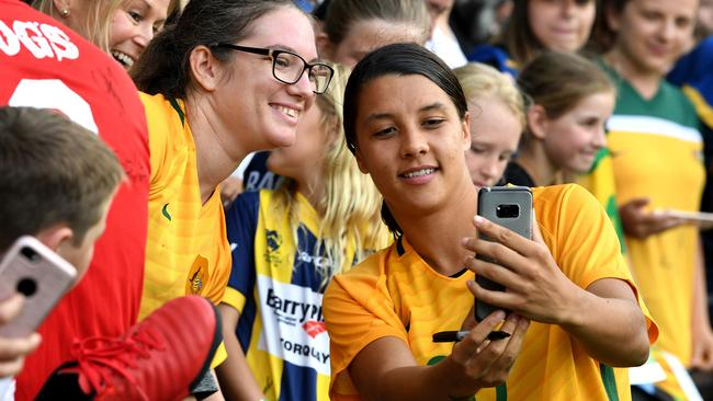 The Matildas has become a huge favourite with all fans. (AAP Image/Joe Castro)