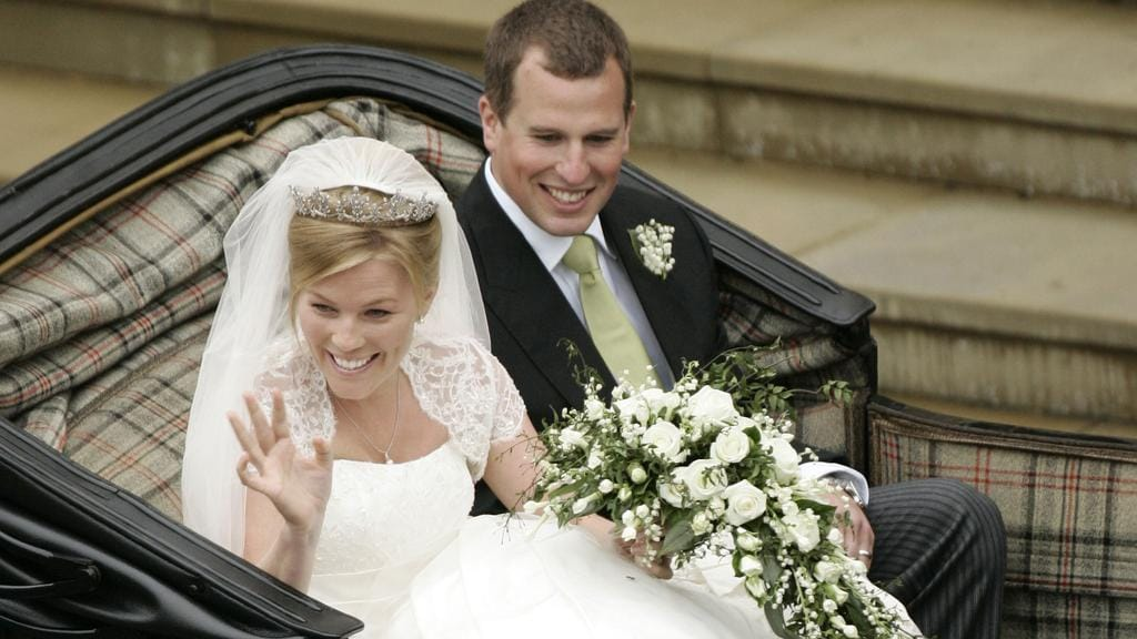 Peter and Autumn were married at St George's Chapel at Windsor in 2008.