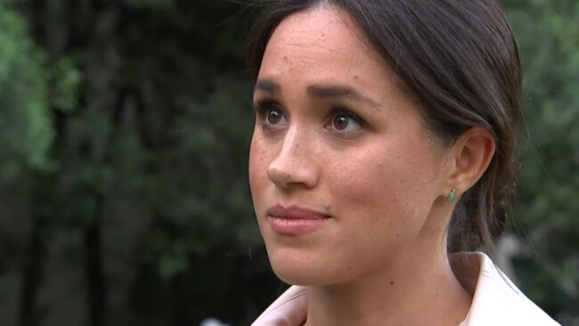 """Meghan Markle admitted she """"isn't OK"""" in an interview with ITV. Image: ITV"""