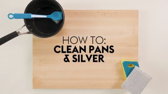 How to clean pans and silver