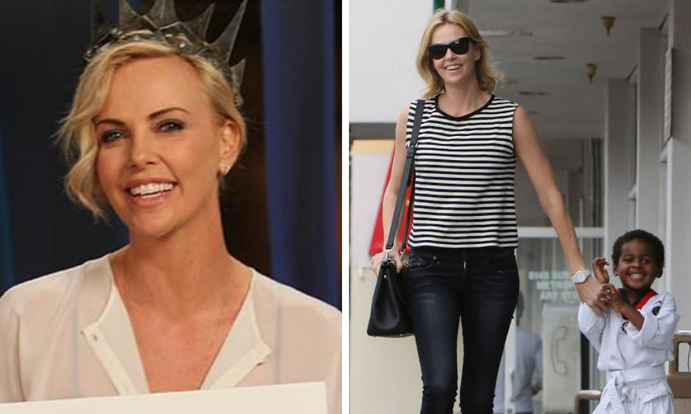 Charlize Theron reveals her 7yo is transgender