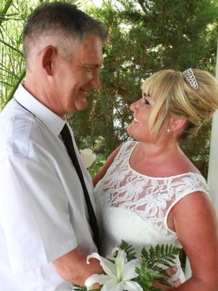David Edwards and wife Sharon on their wedding day.