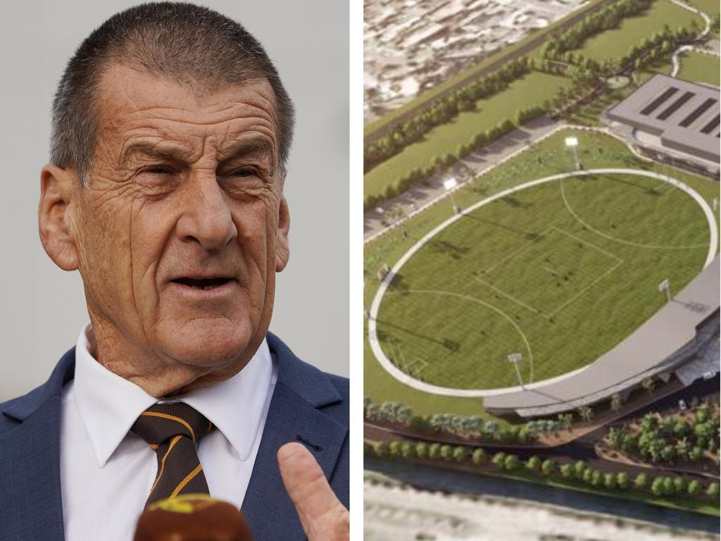 Hawthorn president Jeff Kennett has taken another swipe at the Andrews government after his club's Dingley Village project received federal funding.