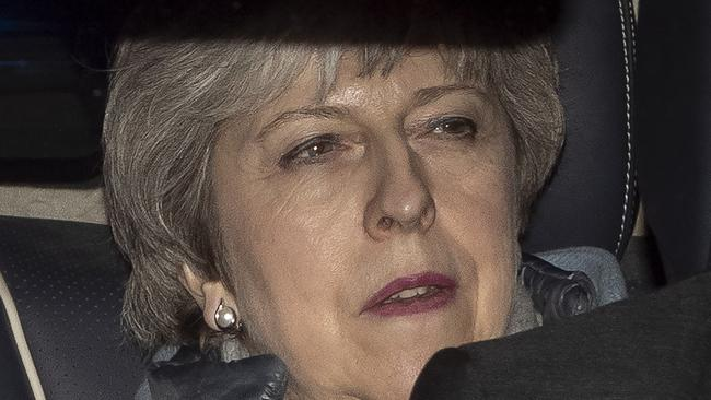 Theresa May is unwilling to abandon her hard-won divorce deal with the EU. Picture: Getty