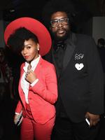 Janelle Monae and Questlove attend GQ and Giorgio Armani Grammys After Party. Picture: Getty