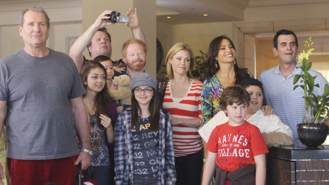 Holiday time ... the first vacation episode to Hawaii in season one was so successful that the Modern Family clan took other trips together in seasons to come. Picture: Supplied