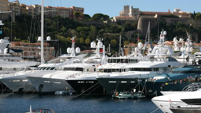 So many yachts, so little space.