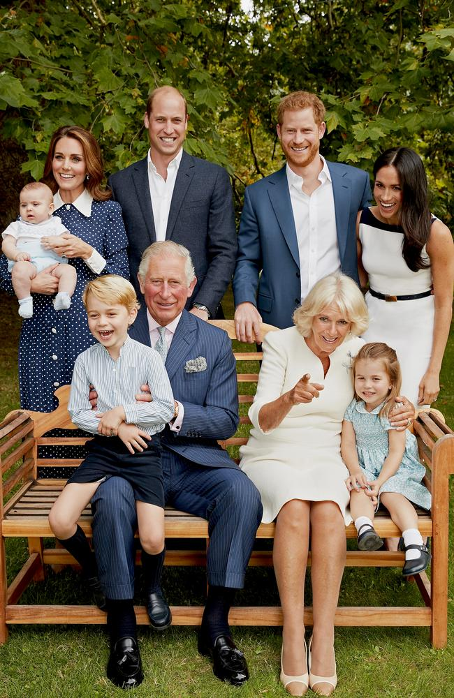 Just your standard, run-of-the-mill family portrait … featuring the heir to the British throne. Photo: Chris Jackson/Clarence House via Getty Images