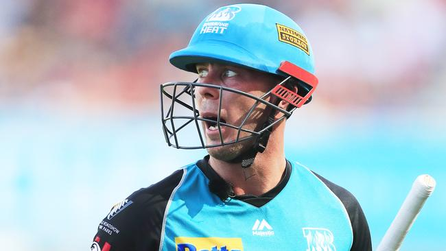 The Heat are still waiting for their first win despite good form from star batsman Chris Lynn. Picture: Mark Evans/Getty Images
