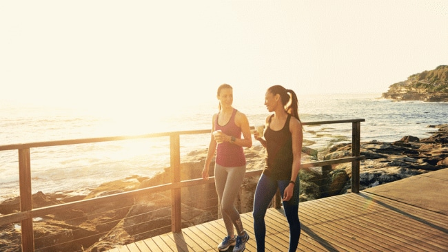 Chat to your friends about your fitness goals - it's good to put it out there. Image: iStock.