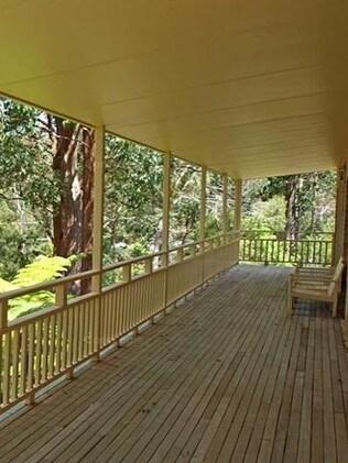 The veranda where William was playing.