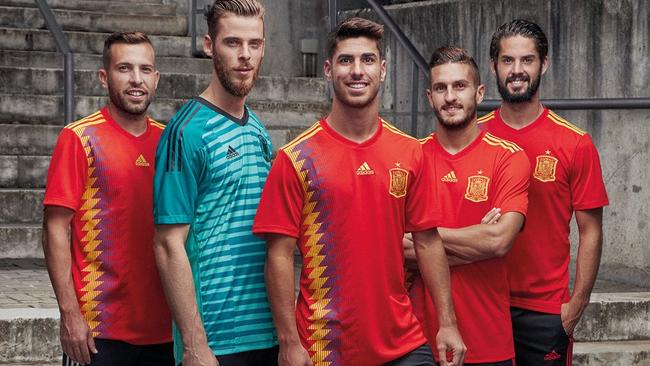 a2970c64809 World Cup 2018 official kits  Spain