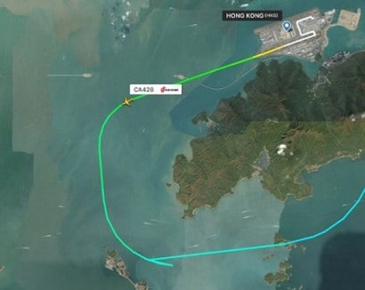 This was the intended route. Image: Flightradar24