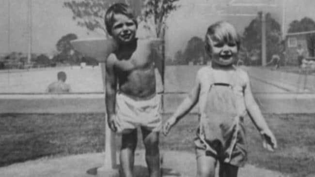 Cheryl Grimmer, right, was three when she vanished after a day at the beach in January 1970.