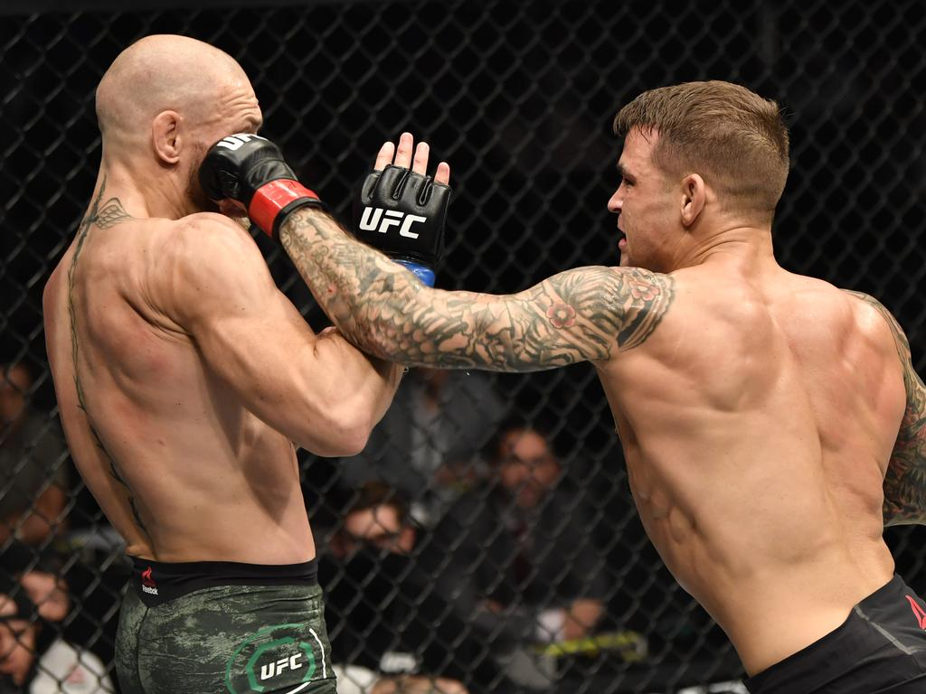 Dustin Poirier wants to punch Conor McGregor again. (Photo by Jeff Bottari/Zuffa LLC via Getty Images)