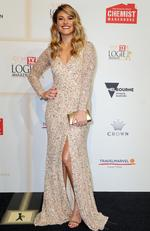 Natalia Cooper arrives on the red carpet at the 59th annual TV Week Logie Awards on April 23, 2017 at the Crown Casino in Melbourne, Australia. Picture: AAP
