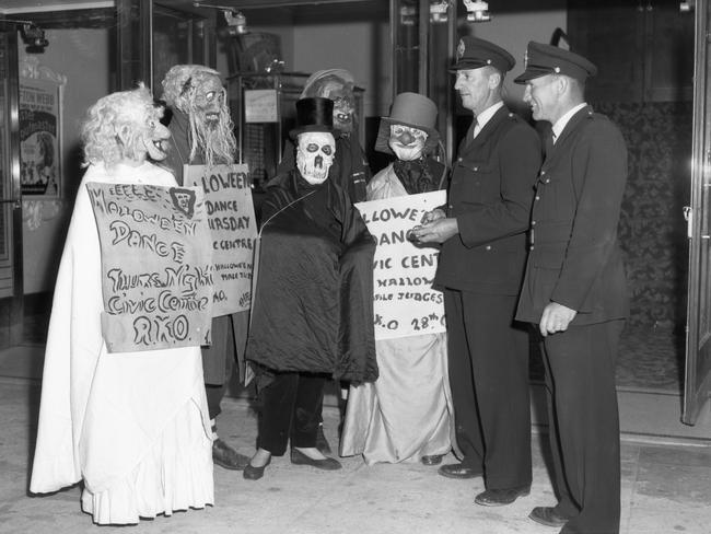 Dressing up for Halloween in 1953. Picture: State Library of Victoria.