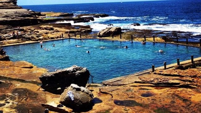 The rock pool at Maroubra Beach, close to where the shark was caught.
