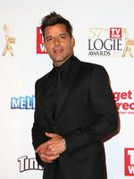 Ricky Martin on the red carpet at the 2015 Logie Awards at Crown Casino in Melbourne. Picture: Getty