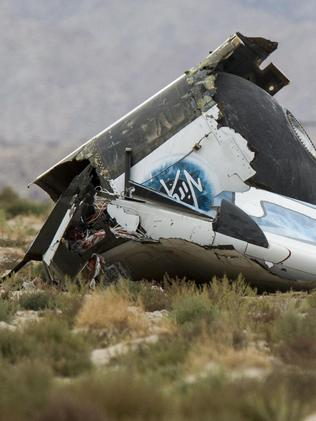 Wreckage was scattered across the Mojave Desert. Picture: Ringo H.W. Chiu