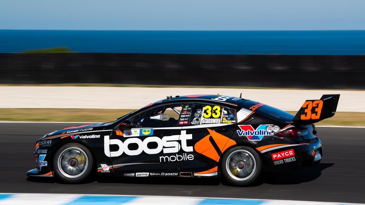 Stanaway en route to his season-best finish at Phillip Island.