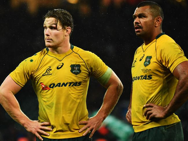 It was a tough day at the office for Michael Hooper and Kurtley Beale.