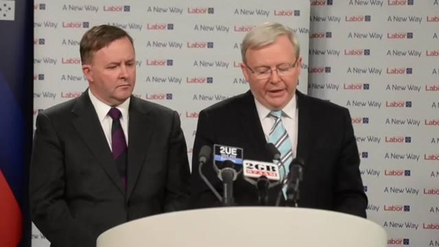 Rudd: Labor has stepped up in tackling climate change