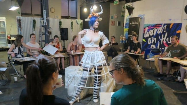 A life drawing class at work-shop in Redfern, Sydney. Photo: Supplied