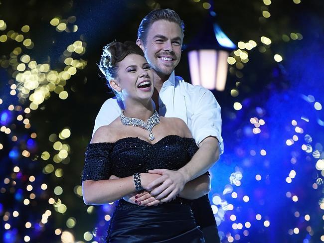 International star ... Bindi Irwin with dance partner Derek Hough win Dancing With The Stars in Los Angeles, California. Picture: Amanda Edwards / WireImage