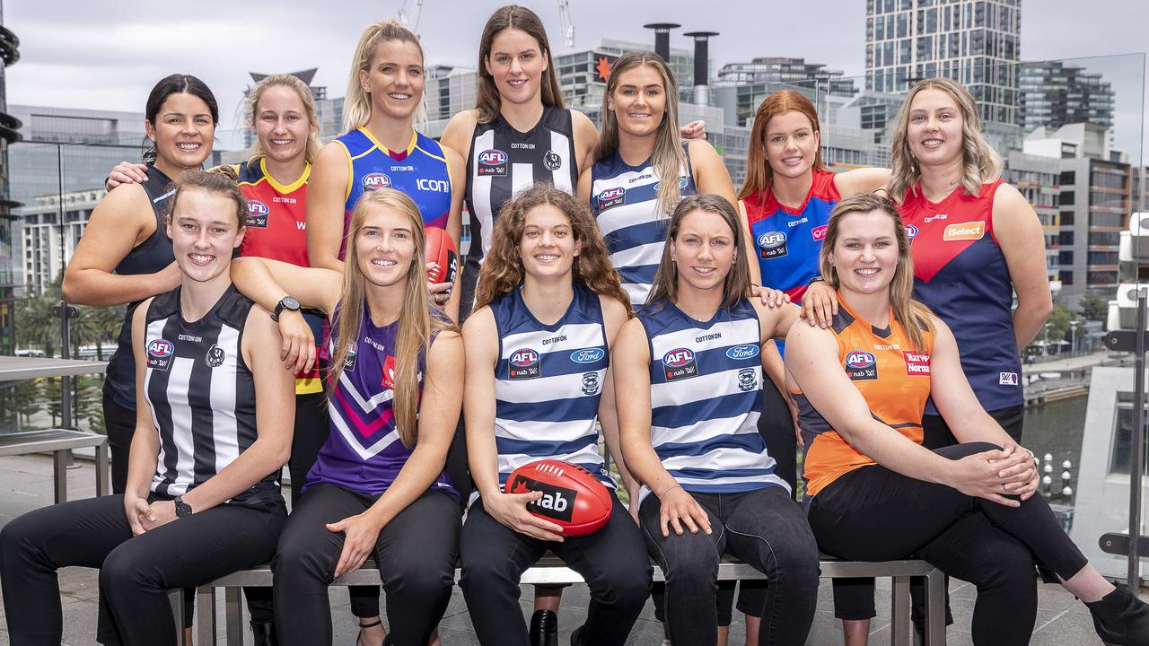 The top draft picks of 2018, including Maddie Prespakis (top, left). Photo: AAP Image/Daniel Pockett