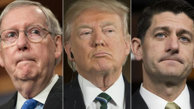 US Senate Majority Leader Mitch McConnell and Speaker of the House Paul Ryan both spoke out against Donald Trump's comments. Picture: AFP