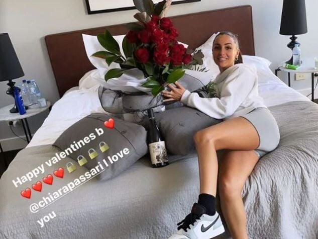 Kyrgios posted this on Valentine's Day.