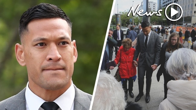 Israel Folau settles legal dispute with Rugby Australia