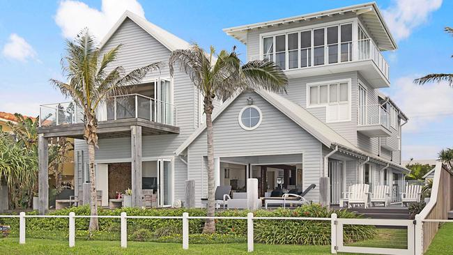 This home at 9 Hedges Ave, Mermaid Beach, sold to Clive Palmer for $12m.