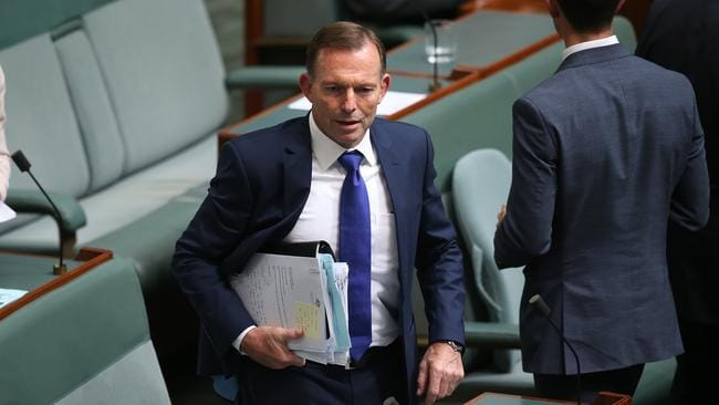 Tony Abbott chose to leave the chamber rather than vote for same-sex marriage. Picture: Kym Smith