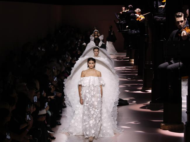A runway of Givenchy brides! Picture: AP