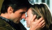 "USA actor Tom Cruise (l) with Renee Zellweger (r) in scene from film ""Jerry Maguire"". /Films/Titles/Jerry/Maguire"