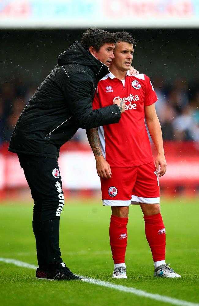 Harry Kewell, manager of Crawley Town.