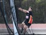 Jackson Mellor competes in the hammer throw at the 2020 Age Track and Field Championships at the Domain Athletic Centre in Hobart. Picture: LUKE BOWDEN