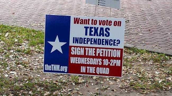 Signs urging independence can be found across the state.
