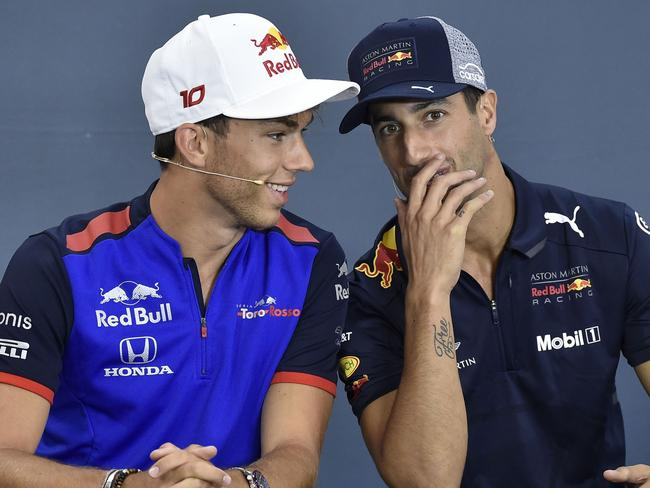 Pierre Gasly and Daniel Ricciardo had some whispers of their own.