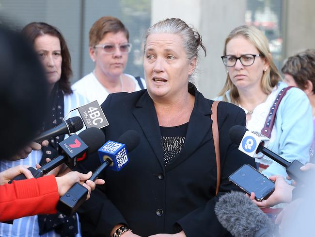 Kristie Powell spoke after her sister was sentenced. Picture: Richard Gosling